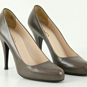 PRADA Pump Platform Leather Heel